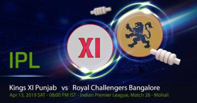Cricket Prediction Indian Premier League – Kings XI Punjab vs Royal Challengers Bangalore – Bruised Royal Challengers Bangalore take on Kings XI Punjab