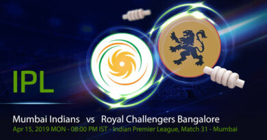 Cricket Prediction Indian Premier League – Mumbai Indians vs Royal Challengers Bangalore – In form Mumbai take on struggling Bangalore