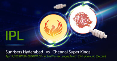 Cricket Prediction Indian Premier League –Sunrisers Hyderabad v Chennai Super Kings– SRH look to get their campaign back on track against CSK