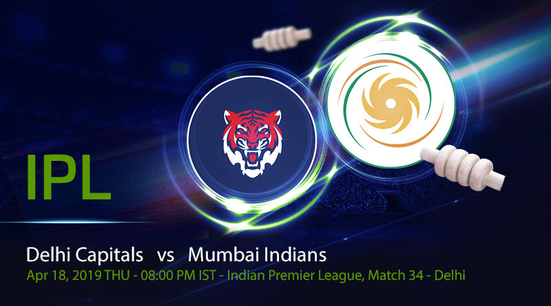Cricket Prediction Indian Premier League – Delhi Capitals vs Mumbai Indians – Top ranked teams look to strengthen their position