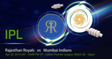 Cricket Prediction Indian Premier League –Rajasthan Royals vs Mumbai Indians– MI look to get into top two of the points table