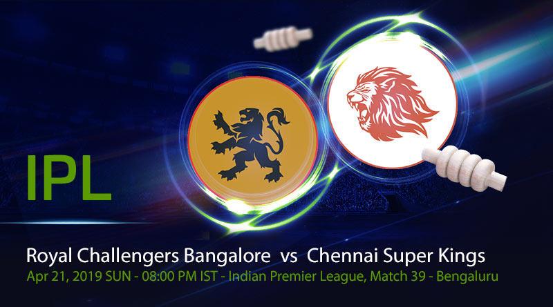 Cricket Prediction Indian Premier League –Royal Challengers Bangalore vs Chennai Super Kings–CSK take on RCB to seal the playoff spot