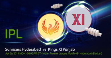 Cricket Prediction Indian Premier League – Sunrisers Hyderabad vs Kings XI Punjab – Sunrisers Hyderabad and Kings XI Punjab take on each other in a crucial battle