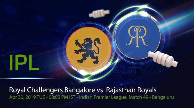 Cricket Prediction Indian Premier League – Royal Challengers Bangalore vs Rajasthan Royals – Royal Challengers Bangalore take on Rajasthan Royals in quest of a playoff spot