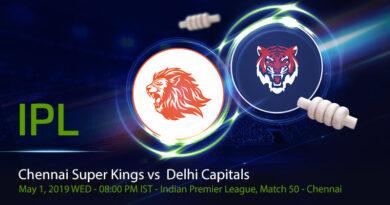 Cricket Prediction Indian Premier League – Chennai Super Kings vs Delhi Capitals – Chennai Super Kings and Delhi Capitals clash in the battle of top position