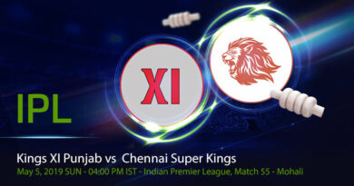 Cricket Prediction Indian Premier League – Kings XI Punjab vs Chennai Super Kings – Kings XI Punjab take on Chennai Super Kings in their final group game of the season
