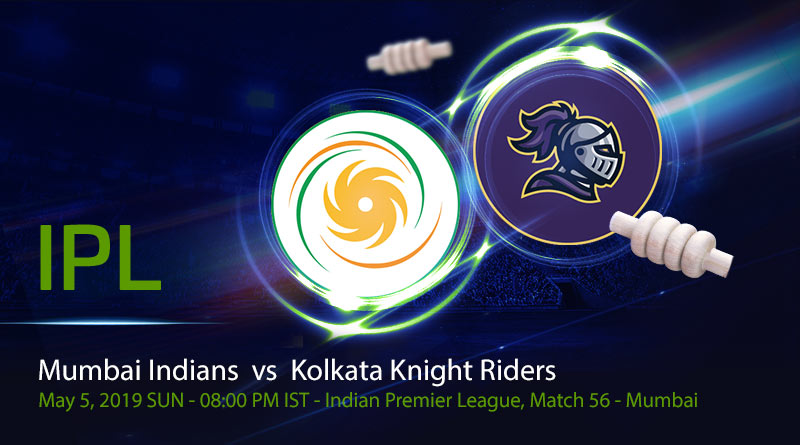 Cricket Prediction Indian Premier League – Mumbai Indians vs Kolkata Knight Riders – Mumbai Indians take on Kolkata Knight Riders in their final group game