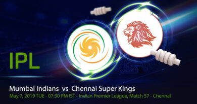 Cricket Prediction Indian Premier League – Mumbai Indians vs Chennai Super Kings – Mumbai Indians and Chennai Super Kings clash in the first qualifier