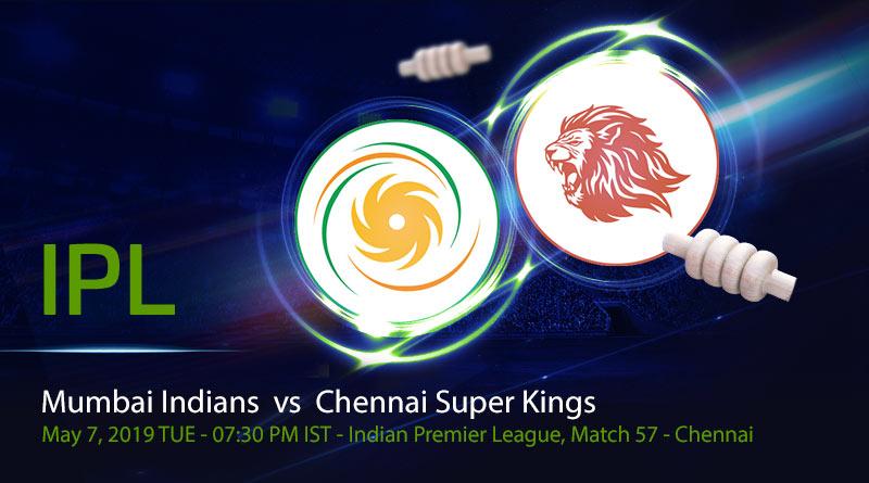 Cricket Prediction Indian Premier League – Mumbai Indians vs Chennai Super Kings – Mumbai Indians and Chennai Super Kings clash in the first qualifier