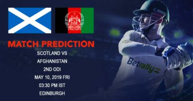 Cricket Prediction Afghanistan tour of England and Scotland 2019 – Scotland vs Afghanistan – Scotland take on Afghanistan in the second ODI