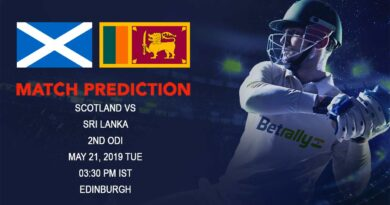 Cricket Prediction Sri Lanka in Scotland ODI Series 2019 – Scotland vs Sri Lanka – Sri Lanka hope for some game time against Scotland