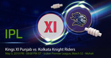 Cricket Prediction Indian Premier League – Kings XI Punjab vs Kolkata Knight Riders – Kolkata Knight Riders and Kings XI Punjab take on each other in a do-or-die game