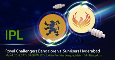 Cricket Prediction Indian Premier League – Royal Challengers Bangalore vs Sunrisers Hyderabad – Royal Challengers Bangalore look to finish the disappointing season on a high