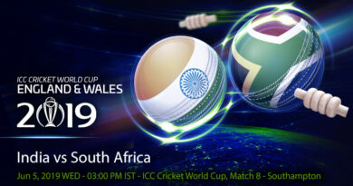Cricket Prediction World Cup – India vs South Africa – India begin their World Cup campaign against South Africa