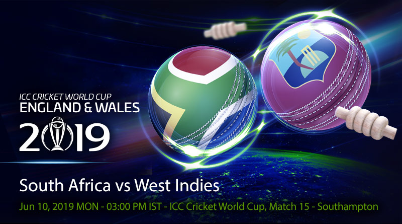 Cricket Prediction World Cup – South Africa vs West Indies – Struggling South Africa take on West Indies in their fourth game