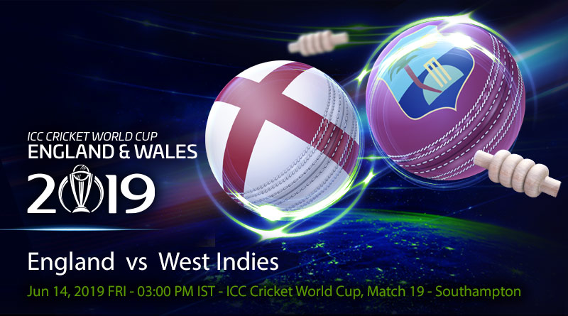 Cricket Prediction World Cup – England vs West Indies – Batting powerhouses England and West Indies take on each other