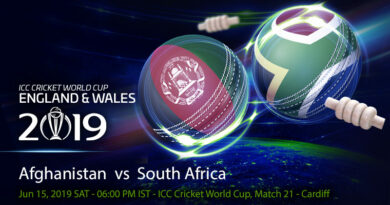 Cricket Prediction World Cup – Afghanistan vs South Africa – Subdued Afghanistan look to impress against South Africa