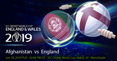Cricket Prediction World Cup – Afghanistan vs England – England take on struggling Afghanistan