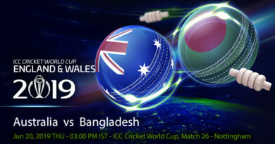 Cricket Prediction World Cup – Australia vs Bangladesh – On song Australia take on rejuvenated Bangladesh
