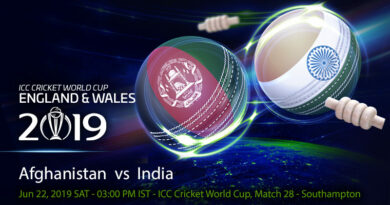 Cricket Prediction World Cup – Afghanistan vs India – India take on struggling Afghanistan