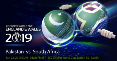 Cricket Prediction World Cup – Pakistan vs South Africa – Struggling sides Pakistan and South Africa take on each other at Lord's
