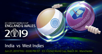 Cricket Prediction World Cup – India vs West Indies – India and West Indies take on each other after dramatic last game