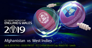 Cricket Prediction World Cup – Afghanistan vs West Indies – Afghanistan and West Indies play their last game of the World Cup