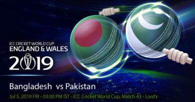 Cricket Prediction World Cup – Bangladesh vs Pakistan – Pakistan take on Bangladesh with an eye on England game