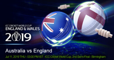 Cricket Prediction World Cup – Australia vs England – Australia aim to continue their formidable semi-final record against hosts England