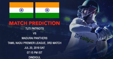 Cricket Prediction Tamil Nadu Premier League – TUTI Patriots vs Madurai Panthers – Defending champions Panthers take on Patriots in their opening game