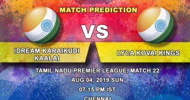 Cricket Prediction Tamil Nadu Premier League – IDream Karaikudi Kaalai vs Lyca Kovai Kings – Lyca Kovai Kings look to get into the top four after the game against IDream Karaikudi Kaalai
