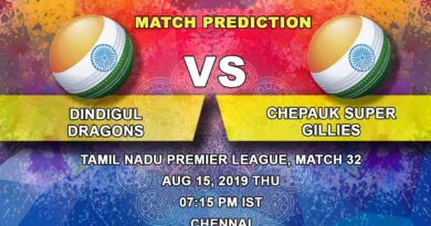 Cricket Prediction Tamil Nadu Premier League – Dindigul Dragons vs Chepauk Super Gillies – Dindigul Dragons set up a rematch against Chepauk Super Gillies in the final