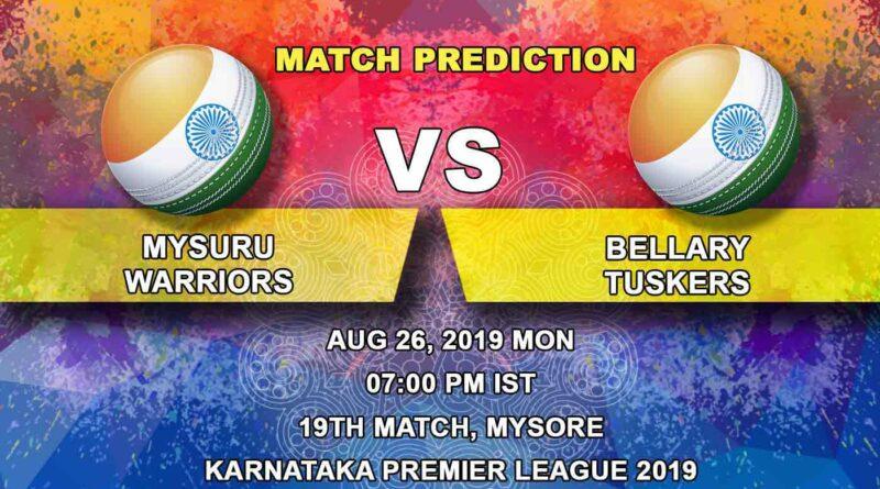 Cricket Prediction Karnataka Premier League – Mysuru Warriors vs Bellary Tuskers – Record-breaking Bellary set their eyes on top-two finish