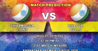 Cricket Prediction Karnataka Premier League – Bijapur Bulls vs Shivamogga Lions – Shivamogga Lions look to finish strongly against Bijapur Bulls