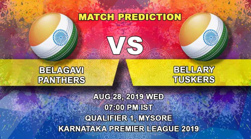 Cricket Prediction Karnataka Premier League – Belagavi Panthers vs  Bellary Tuskers – High-octane clash in-store as Panthers take on Tuskers