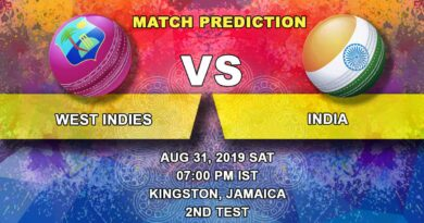 Cricket Prediction India tour of United States of America and West Indies 2019 – West Indies vs India – Teams continue their tussle on Day 2