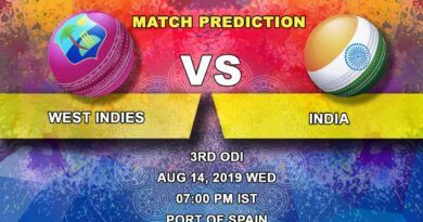 Cricket Prediction India tour of United States of America and West Indies 2019 – West Indies vs India – Teams clash in the third and final ODI