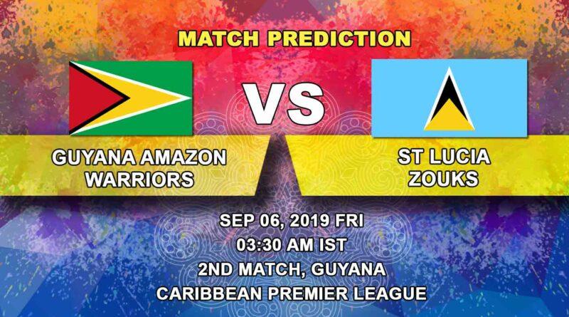 Cricket Prediction Caribbean Premier League – Guyana Amazon Warriors vs St Lucia Zouks – Guyana Warriors look to begin well against Zouks