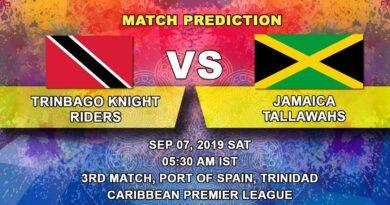 Cricket Prediction Caribbean Premier League – Trinbago Knight Riders vs Jamaica Tallawahs – Jamaica Tallawahs play their opening game against Trinbago Knight Riders