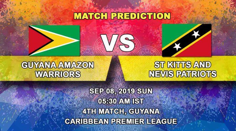 Cricket Prediction Caribbean Premier League – Guyana Amazon Warriors vs St Kitts and Nevis Patriots – Warriors look to continue their winning run