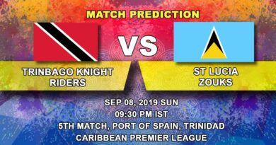 Cricket Prediction Caribbean Premier League – Trinbago Knight Riders vs  St Lucia Zouks – Zouks take on Knight Riders juggernaut