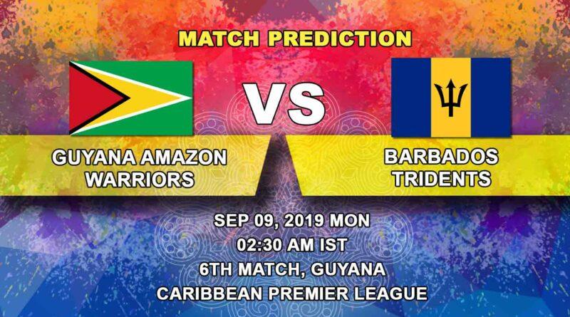 Cricket Prediction Caribbean Premier League – Guyana Amazon Warriors vs Barbados Tridents – Barbados play their first game of CPL 2019