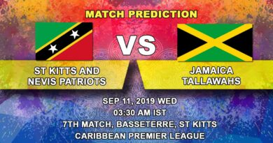 Cricket Prediction Caribbean Premier League – St Kitts and Nevis Patriots vs Jamaica Tallawahs – Jamaica Tallawahs look to get back into the groove