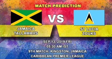 Cricket Prediction Caribbean Premier League – Jamaica Tallawahs vs St Lucia Zouks – Stunned Jamaica Tallawahs take on St Lucia Zouks in their third game