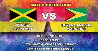 Cricket Prediction Caribbean Premier League – Jamaica Tallawahs vs Guyana Amazon Warriors – Jamaica Tallawahs take on the table toppers Guyana Warriors