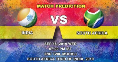 Cricket Prediction South Africa tour of India 2019/20 – India vs South Africa – The caravan moves to Chandigarh for the second T20 International