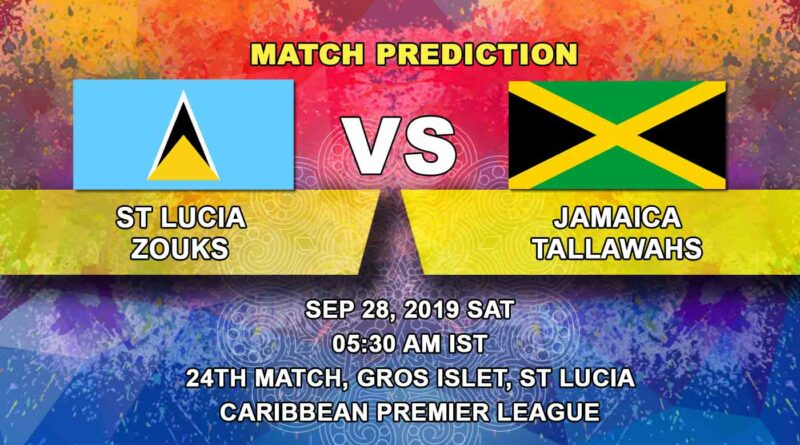 Cricket Prediction Caribbean Premier League – St Lucia Zouks vs Jamaica Tallawahs – On the verge of elimination Zouks take on Tallawahs