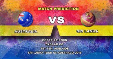 Cricket Prediction Australia vs Sri Lanka Sri Lanka tour of Australia 2019/20 27.10