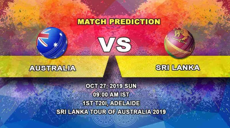 Cricket Prediction Australia vs Sri Lanka Sri Lanka tour of Australia 2019/20 27.10