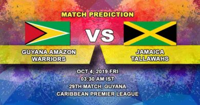 Cricket Prediction Guyana Amazon Warriors vs Jamaica Tallawahs Caribbean Premier League 04.10.19